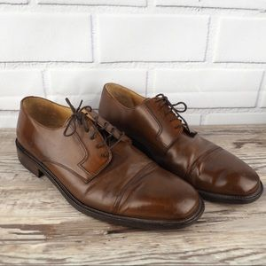 Johnston & Murphy sz 11 brown leather derby shoes